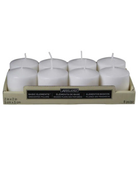 Ashland® Basic Elements™ White Pillar Candles, Value Pack by Ashland