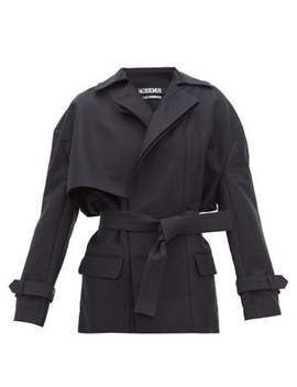 Carini Asymmetrical Storm Flap Trench Jacket by Jacquemus