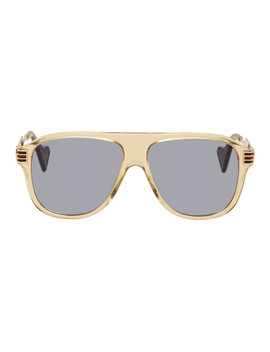 Brown Vintage 70's Pilot Sunglasses by Gucci
