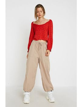 Uo Leah Cowl Neck Blouse by Urban Outfitters