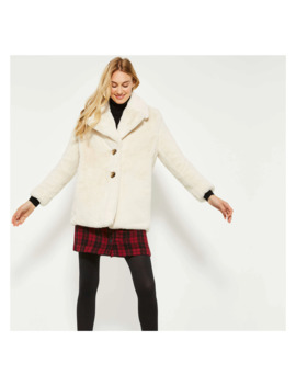 Faux Fur Coat by Joe Fresh