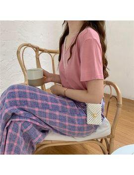 Alfie   Plain Short Sleeve T Shirt / Plaid Loose Fit Pants by Alfie