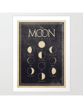 Lunar Phases Moon Cycles Art Print by Society6