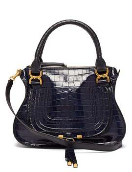 Marcie Medium Crocodile Embossed Leather Bag by Chloé