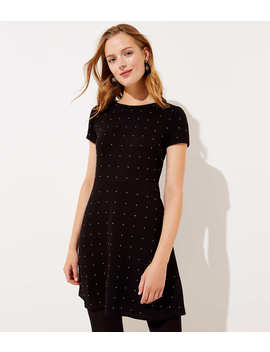 Petite Studded Flare Dress by Loft