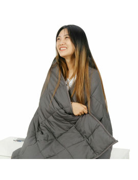 "60"" X80"" Weighted Blanket Full Queen Size Reduce Stress Promote Deep Sleep 15lb by Ebay Seller"