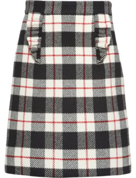 Check A Line Skirt by Miu Miu