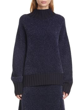 Oversize Metallic Sweater by Tory Burch
