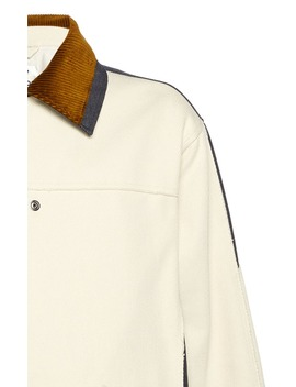 Oris Corduroy Trimmed Cotton Canvas Jacket by Acne Studios