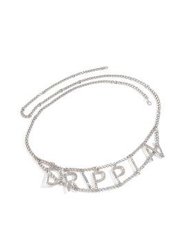 Drip Like Me Chain Belt   Silver by Miss Lola