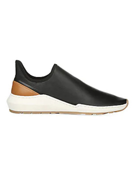 Marlon Leather Slip On Sneakers by Vince