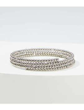 Metallic Beaded Coil Bracelet by Loft