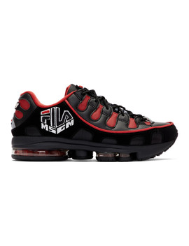 Black & Red Fila Edition Silva Trainer Sneakers by Msgm