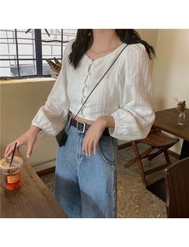 Cosmo Corner   Puff Sleeve Slim Fit Blouse by Cosmo Corner
