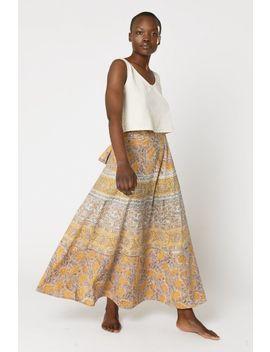 Handblock Wrap Skirt by Tree Of Life