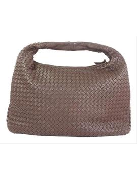Intrecciato Brown Leather Shoulder Bag by Bottega Veneta