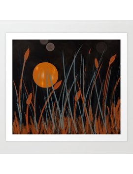 Autumn Moon #Original Art Art Print by Society6