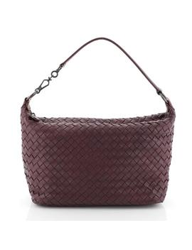 Zip Intrecciato Small Purple Nappa Leather Hobo Bag by Bottega Veneta