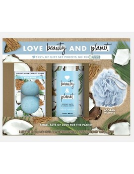 Love Beauty And Planet Body Gift Set Coconut Water And Mimosa Flower   3pc by Love Beauty And Planet