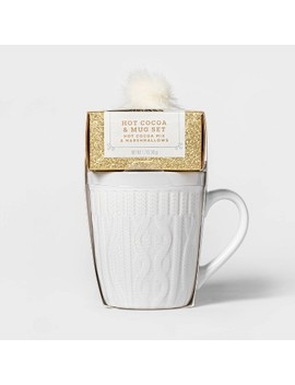 Holiday Sweater Mug With Cocoa And Mini Marshmallows   1.7oz   Wondershop™ by Wondershop