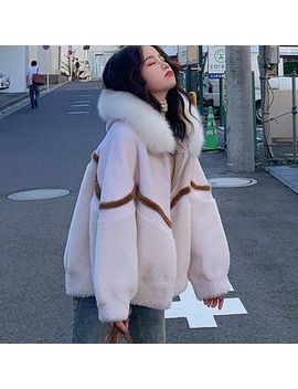 Ariadne   Faux Fur Hooded Zip Jacket by Ariadne