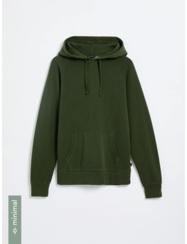 Good Cotton Fleece Hoodie In Rosin by Frank & Oak
