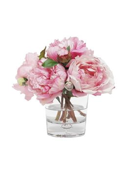 Faux Mixed Peony In Glass Vase by Pottery Barn