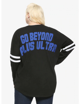My Hero Academia Plus Ultra Girls Long Sleeve Athletic Jersey Plus Size by Hot Topic