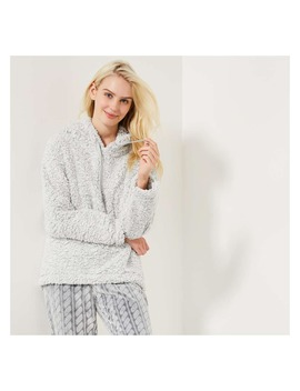 Faux Sherpa Sleep Hoodie by Joe Fresh