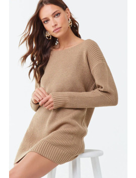 Ribbed Sweater Mini Dress by Forever 21