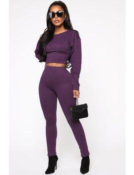 I'm Chillin Wbu Pant Set   Purple by Fashion Nova