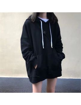 Ping Pong   Plain Long Sleeve Hoodie by Ping Pong