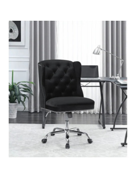 Reza Black Swivel Office Chair With Casters by Generic