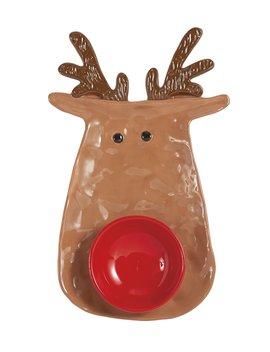 Reindeer Chip &Amp; Dip Bowl by Mud Pie