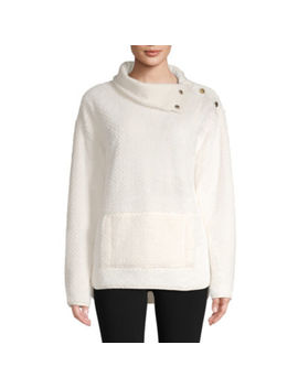 St. John's Bay Active Sherpa Midweight Faux Fur Pullover by Sjb Active