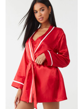 Baby Its Cold Outside Graphic Robe by Forever 21