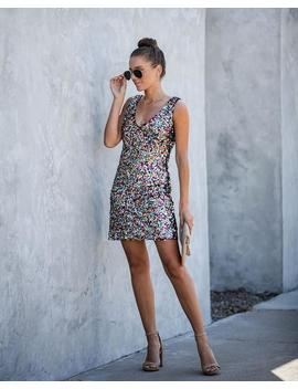 We Are Family Sequin Tank Dress by Vici