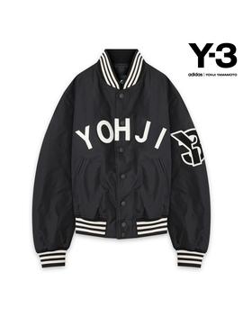 Y 3 Adidas Yohji Yamamoto Weiss Lee Adidas Toothpick Yamamoto Y 3 Yohji Letters Bomber   Black/White Bonn Bar Jacket Black / White by Rakuten Global Market