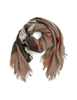 House Check Large Merino Wool Scarf/Wrap by Burberry