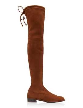 Lowland Over The Knee Suede Boots by Stuart Weitzman