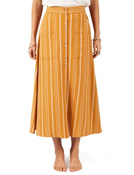 Sunchasers Stripe Midi Skirt by Rip Curl