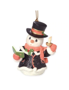 "Precious Moments® ""O Come, All Ye Faithful"" Snowman Ornament by Bed Bath And Beyond"