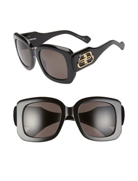 53mm Square Sunglasses by Balenciaga