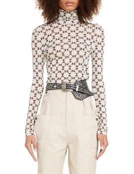Quilt Print Turtleneck Top by Isabel Marant