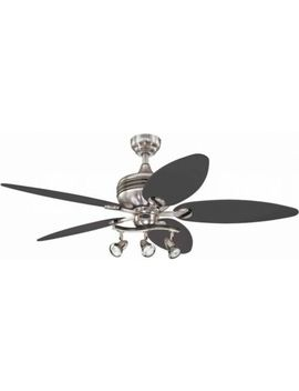 Reversible Five Blade Ceiling Fan, 52 Inch W/ 3 Spotlight Fixture, Silver/Black by Westinghouse