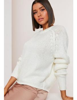 Petite White Crew Neck Jumper by Missguided