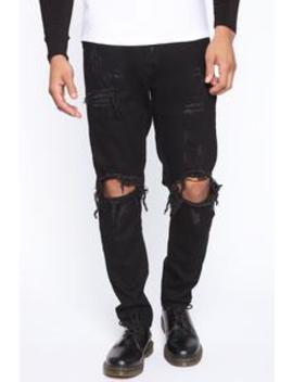 "Weston Road Distressed Skinny Jean 30""   Black Wash by Fashion Nova"