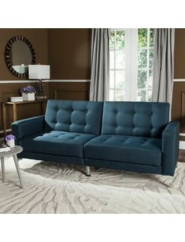 Safavieh Soho Futon In Navy by Bed Bath And Beyond