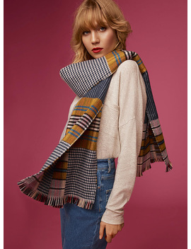 Patchwork Style Scarf by Simons