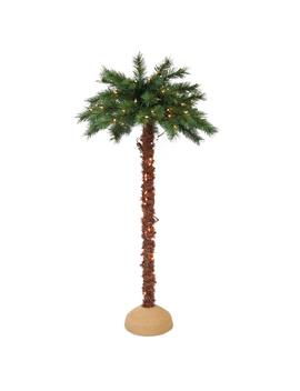 4 Ft. Pre Lit Artificial Palm Tree With 150 Ul Listed Lights by Puleo International